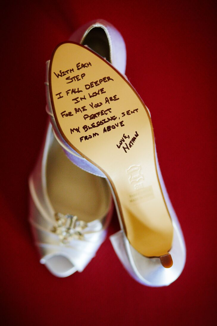 Wedding Shoes with Loving Sentiment