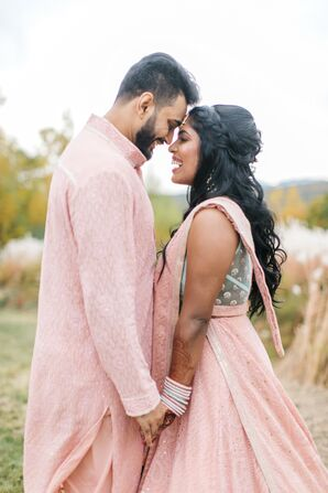 Bride and Groom at Indian Wedding in Concord, New Hampshire