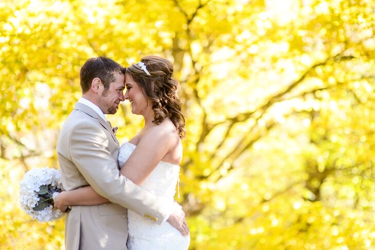 "Jessica Peterson (28 and a quality analyst) and Tim Peterson (34 and a data technician) were married at Five Lakes Resort in Frazee, Minnesota. ""I hav"