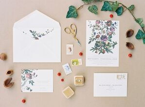Whimsical Custom Invitations with Floral Design