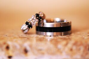 Black and Silver Wedding Rings