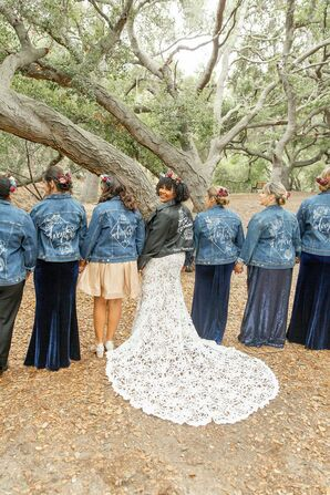 Wedding Party with Custom Jackets at Riverbed Farms in Anaheim, California