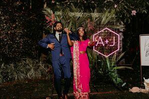 Bride and Groom Dance at Wedding at the Miami Beach Botanical Garden in Miami Beach, Florida