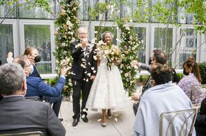 Ceremony Recessional on Patio at the Conrad Hotel in Washington, D.C.