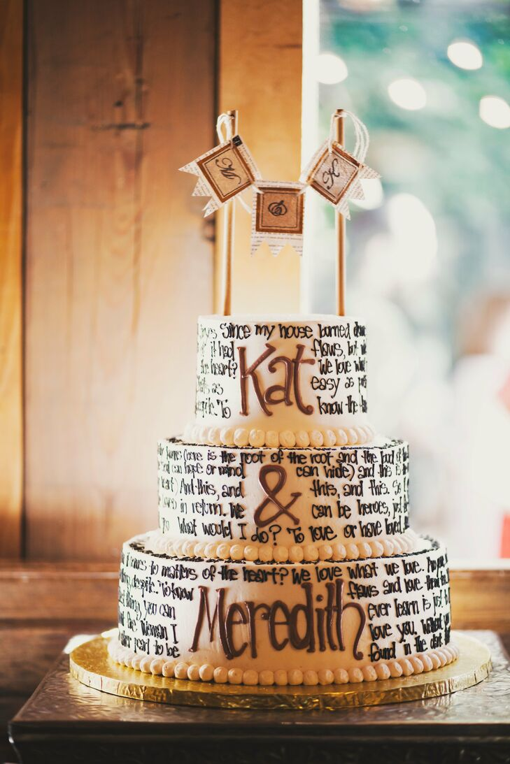 Lyric Wedding Cake
