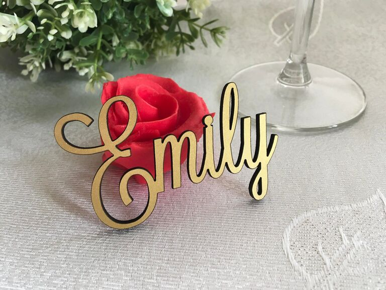 Custom place card calligraphy signs