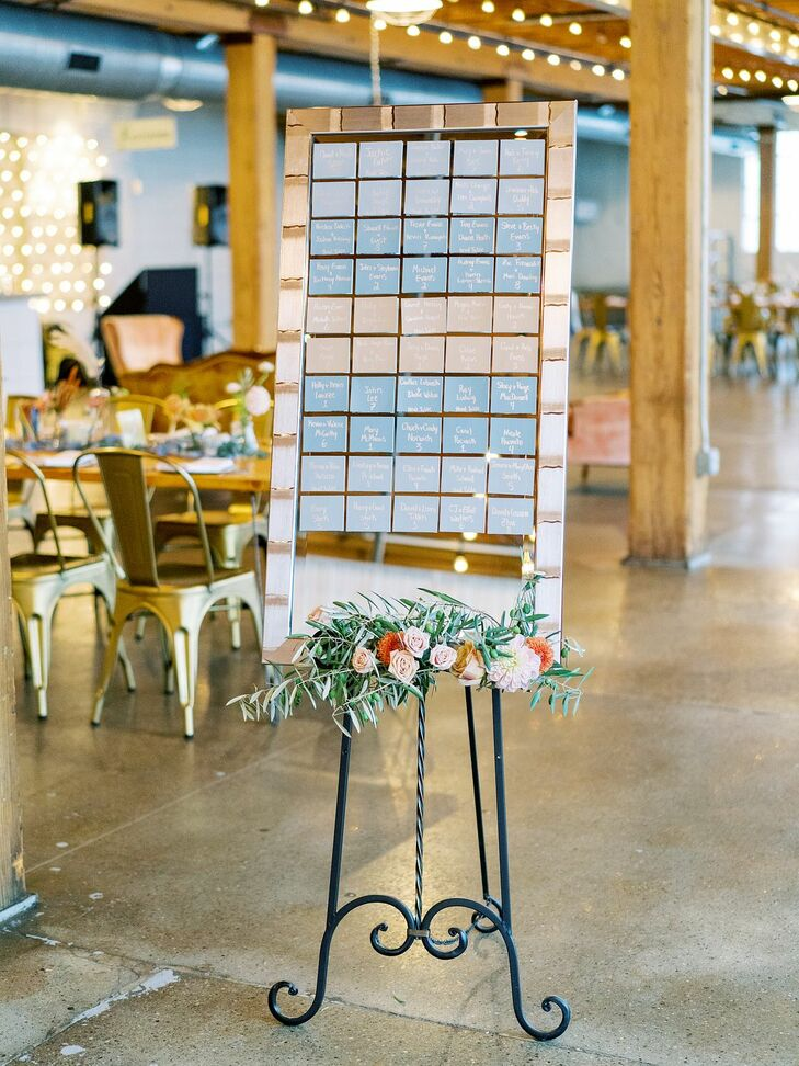 Blue Seating Chart Display