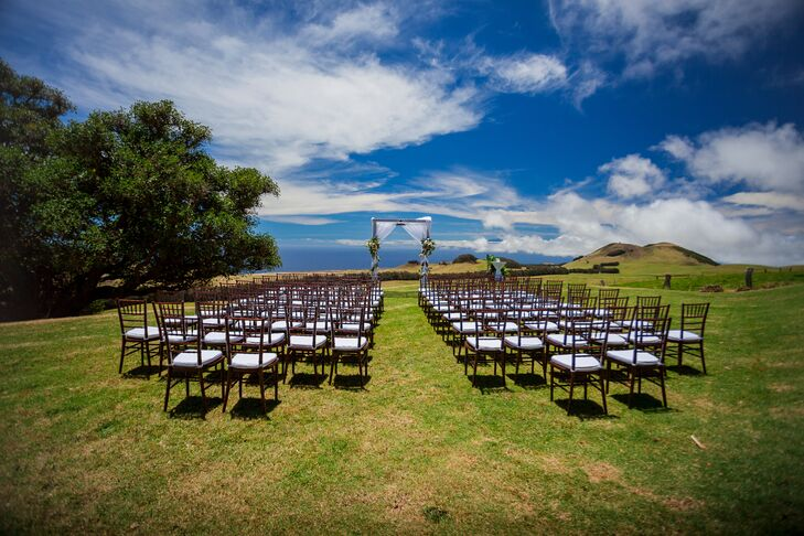 Outdoor Ceremony at Kahua Ranch
