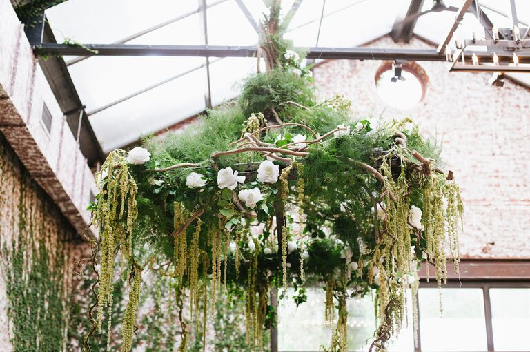 Hanging Amaranthus and Branch Chandelier