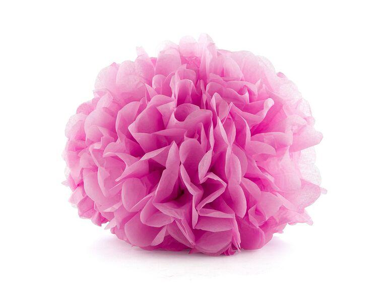 Inexpensive wedding decor tissue paper flower