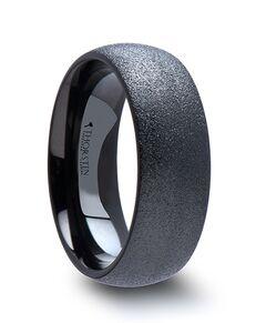Mens Tungsten Wedding Bands W1261-BTSB Tungsten Wedding Ring