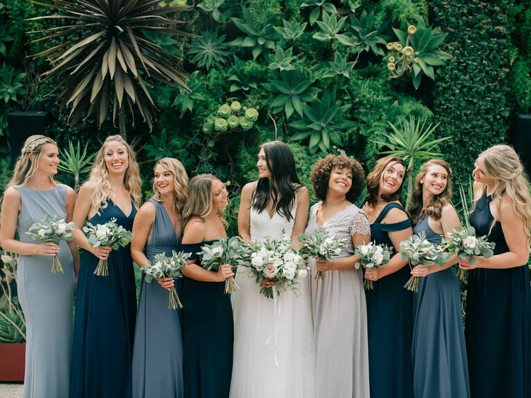 Closeup photo of bridesmaid dresses