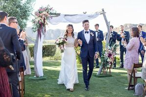 Romantic Recessional at Cielo Farms in Malibu, California