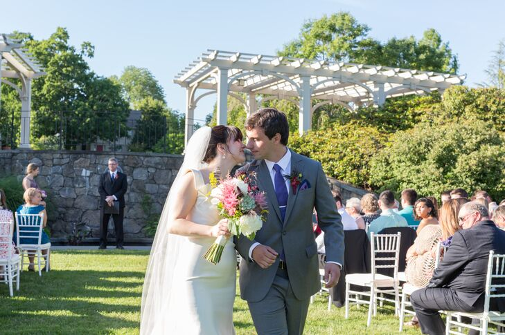 Secret Garden at Tower Hill Botanic Garden Wedding Ceremony Recessional