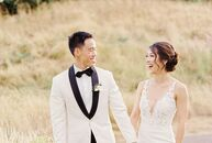 "Jenica Lee and Jason Wong had a formal, elegant wedding near their hometown of Portland. ""We fell in love with the beauty Oregon offered and knew we w"