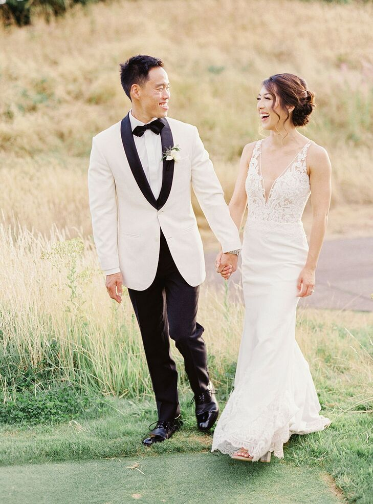 """Jenica Lee and Jason Wong had a formal, elegant wedding near their hometown of Portland. """"We fell in love with the beauty Oregon offered and knew we w"""