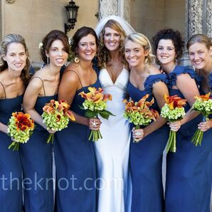 Blue Bridesmaid Gowns