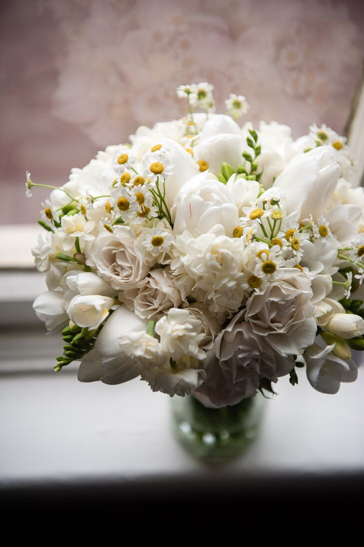 Off-White and White Bridal Bouquet