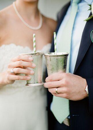 Mint Julep Wedding Cocktail Cups   Meredith Purdue   Blog.TheKnot.com