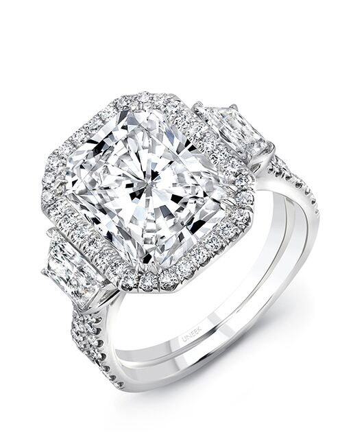Uneek Fine Jewelry Unique Radiant Cut Engagement Ring
