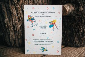 Bright Custom Illustrated Wedding Invitations