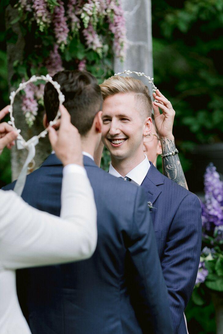 Greek Stefana Ceremony Ritual at Massachusetts Wedding