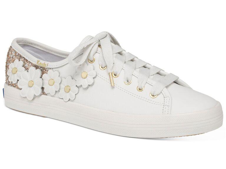Floral wedding sneakers