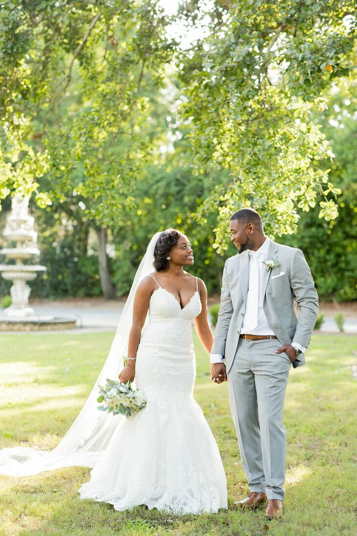 Bride and Groom at O'Donnell House Wedding in Sumter, South Carolina