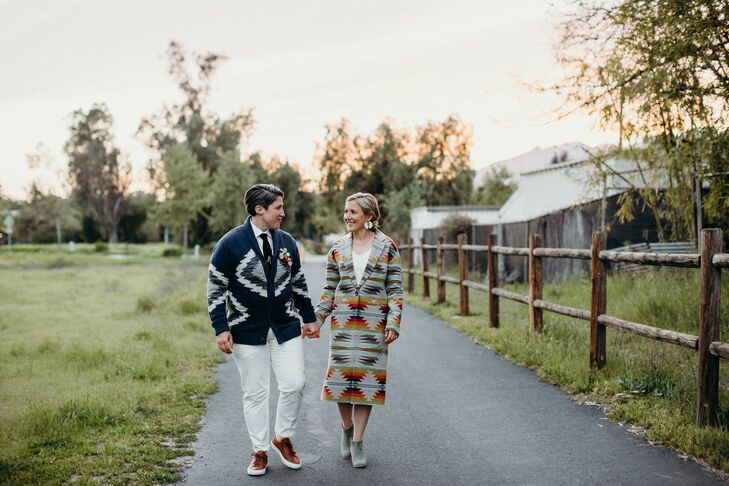 Leah Rubin-Cadrain (32 and a creative lead at Snapchat) and Lindsey Weinstein (37 and in marketing at Apple) threw a casual desert wedding filled with