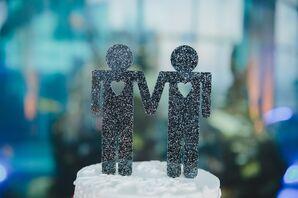 Modern Same-Sex Grooms Cake Topper