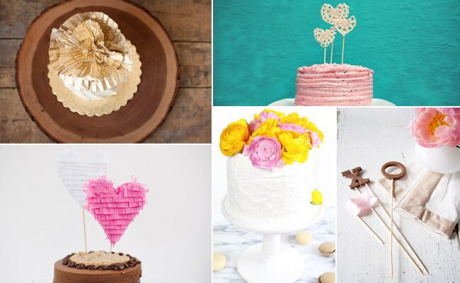 DIY Cake Toppers // Featured: The Knot Blog