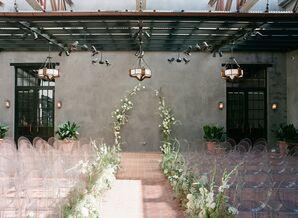 Atrium Ceremony Setup at Hotel Emma in San Antonio, Texas