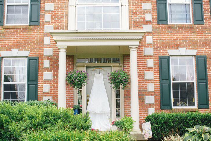 Wedding Dress at Bride's Childhood Home