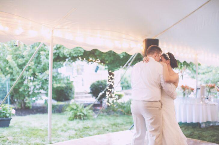 First Dance at Backyard Wedding