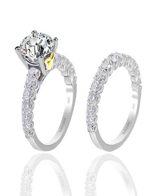 Daviani Love Links Collection DCR1146 White Gold Wedding Ring