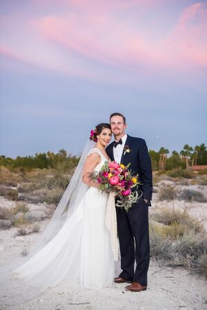 Elegant, Bohemian Desert Wedding in Las Vegas