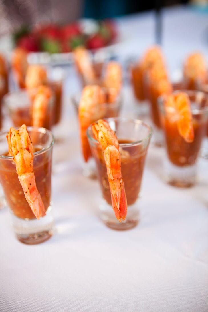 Shrimp Cocktail Shooter Appetizers