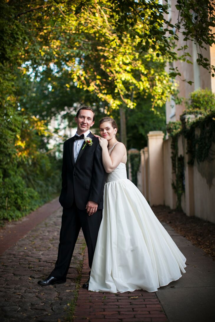 For the reception, Helen did a quick costume change, switching out her elegant 50s gown for a more contemporary A-line style by Watters that allowed for easy movement out on the dance floor.