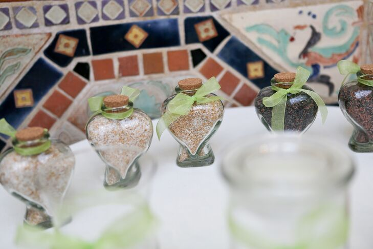 Heart-Shaped Glass Wedding Favors