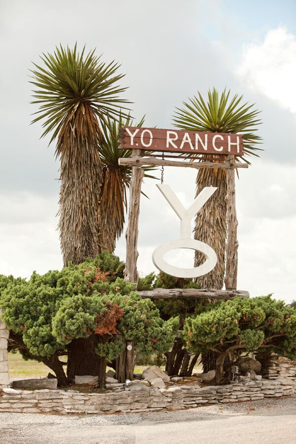 The Y.O. Ranch, which has been in the bride's family for five generations, is high on a hilltop with sweeping views of the countryside. It is a mix of western, Mexican and Hill Country flair.