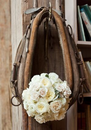 Soft Blended Ivory Bridal Bouquet for Ranch Wedding