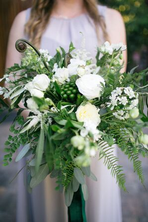 Cascading Greenery and Wildflower Bouquet