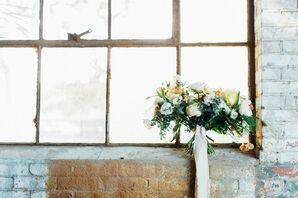 Pastel Flower Arrangement in an Industrial Venue