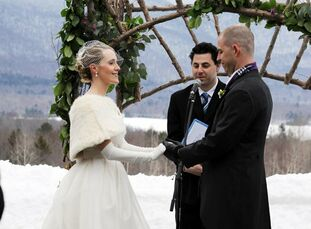 The Bride Anne Collins, 29, a home design editor The Groom Mike Howard, 34, a social and digital media strategist The Date March 12  Anne and Mike wen
