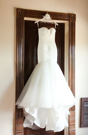 Mermaid Style Tulle Wedding Dress