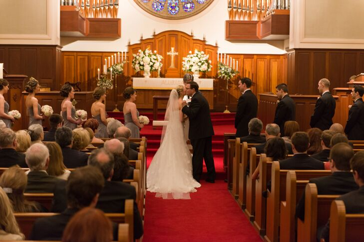 """Allison and Jonathan said """"I Do"""" in the same church where her grandparents were wed, Palma Ceia United Methodist Church in Tampa Florida."""