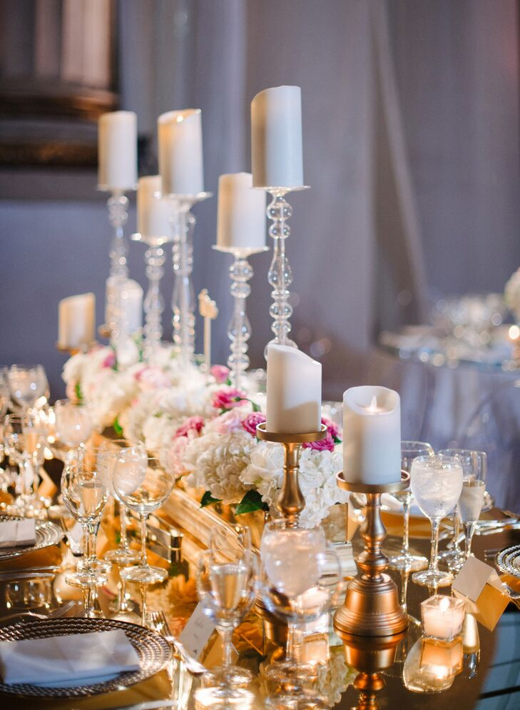 Tall Votive Candle Centerpieces