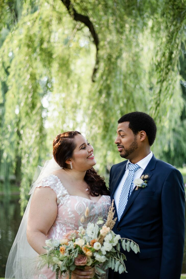 Sarah Brown (31 and a machine learning researcher) and Kirk Stewart (31 and a sales engineer) initially planned to celebrate their union with a large,