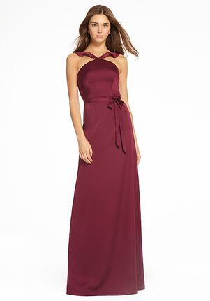 Monique Lhuillier Bridesmaids 450543 Halter Bridesmaid Dress