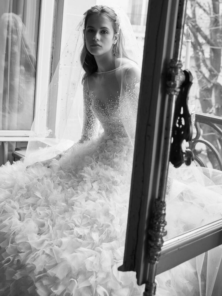 Elie Saab Spring 2019 Collection: Bridal Fashion Week Photos